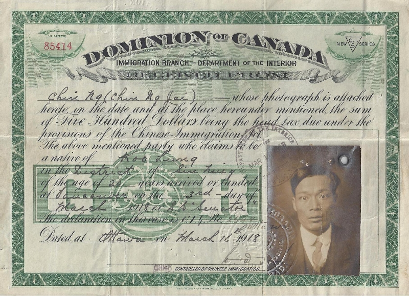bibliography chinese immigration in canada Chan, arlene the chinese head tax and anti-chinese immigration policies in the twentieth century toronto, ontario: james lorimer .